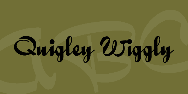 135+ Best Script Fonts in 2020. Free and Premium - quigleywiggly font 1 big