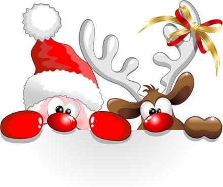 150+ Free Christmas Graphics: Fonts, Images, Vectors, Patterns & Premium Bundles - reindeer clipart