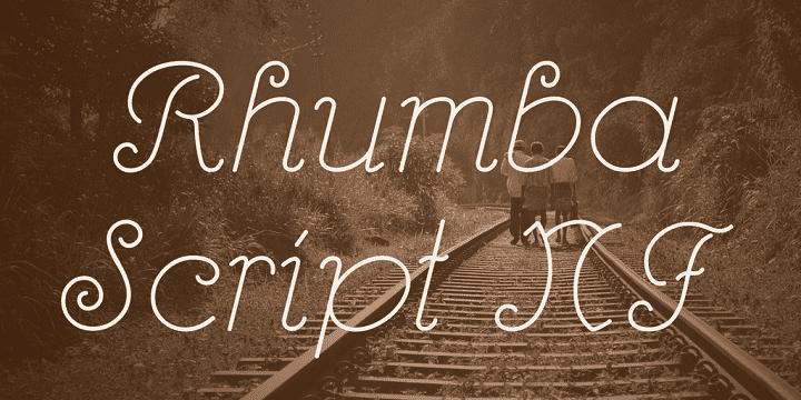 135+ Best Script Fonts in 2020. Free and Premium - rhumbascript font 1 big