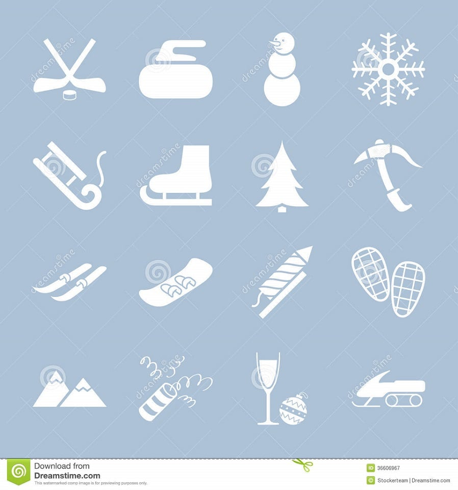 150+ Free Christmas Graphics: Fonts, Images, Vectors, Patterns & Premium Bundles - set winter holiday icons collections white