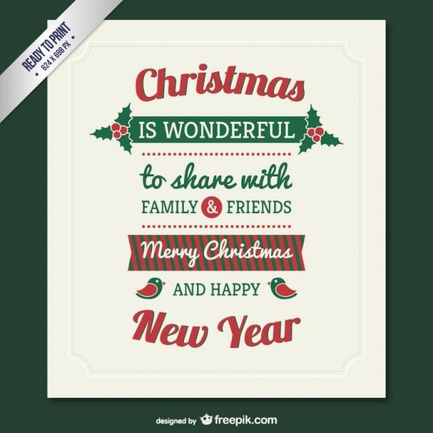 150+ Free Christmas Graphics: Fonts, Images, Vectors, Patterns & Premium Bundles - vintage christmas card vector