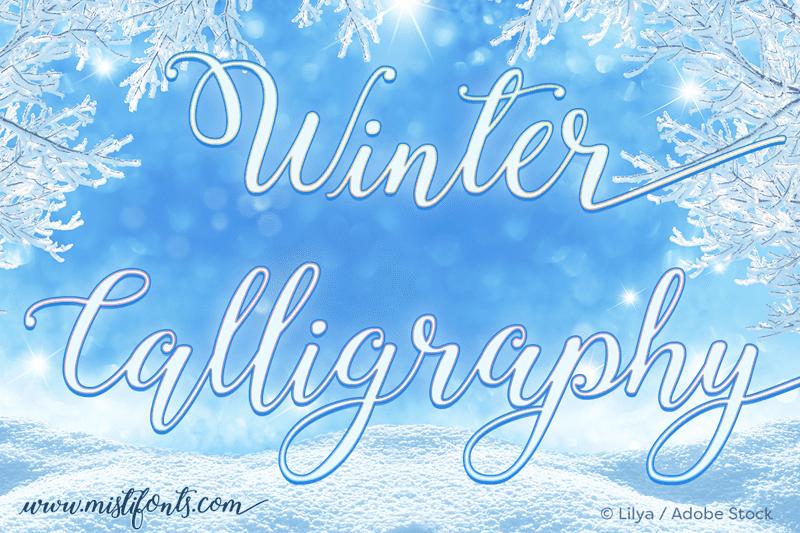 150+ Free Christmas Graphics: Fonts, Images, Vectors, Patterns & Premium Bundles - winter calligraphy