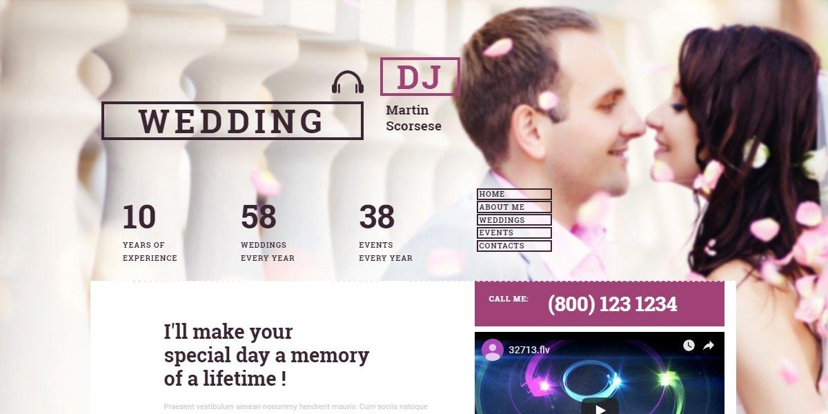 35+ Best Wedding & Dating Website Templates in 2019 - 55337 big