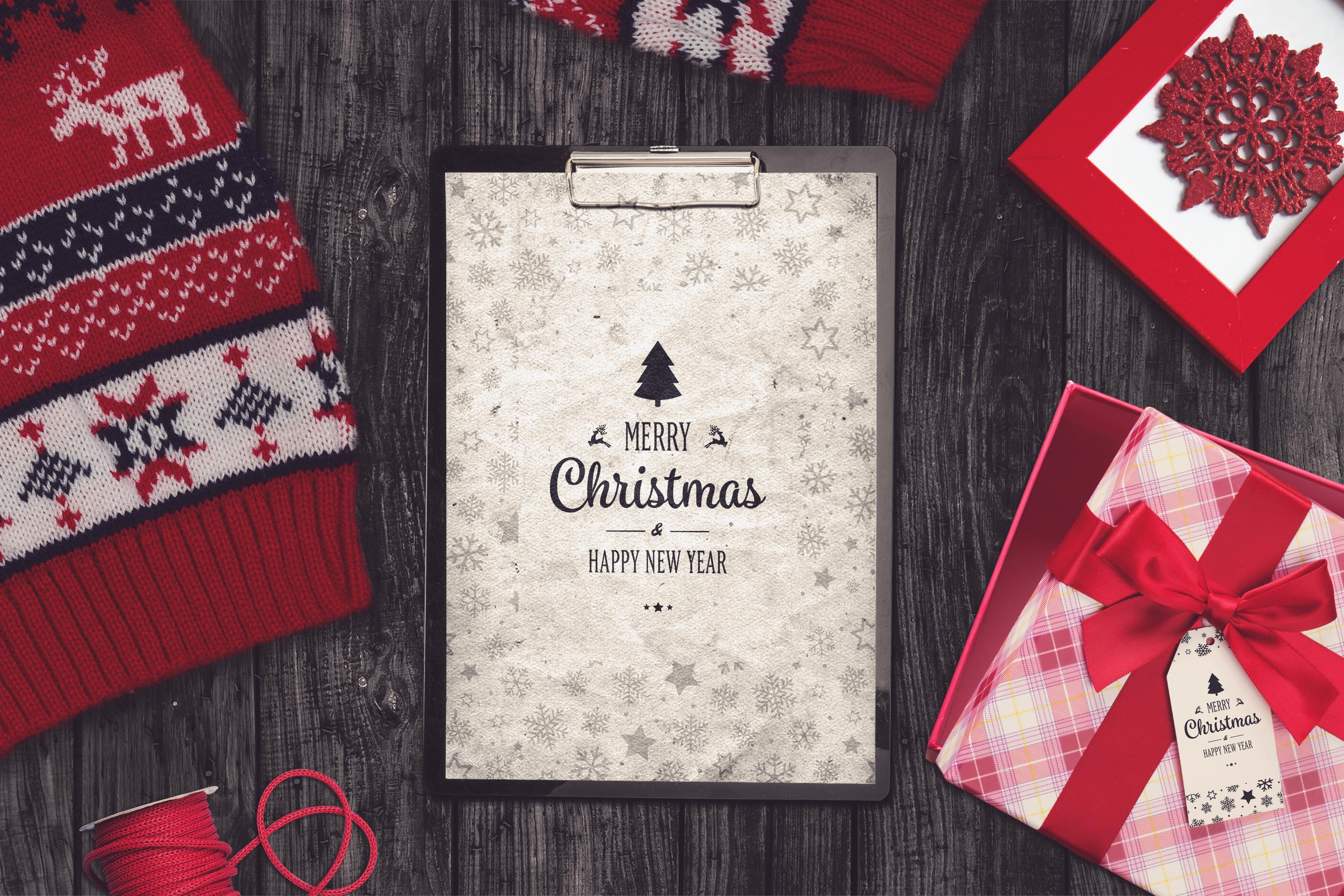 Christmas Notepad Mock-up