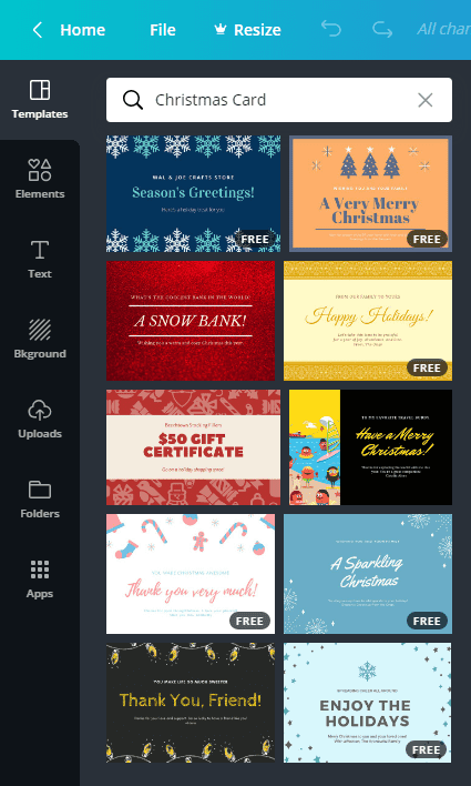 16+ Free Services with Printable Christmas Cards 2020 - canva2