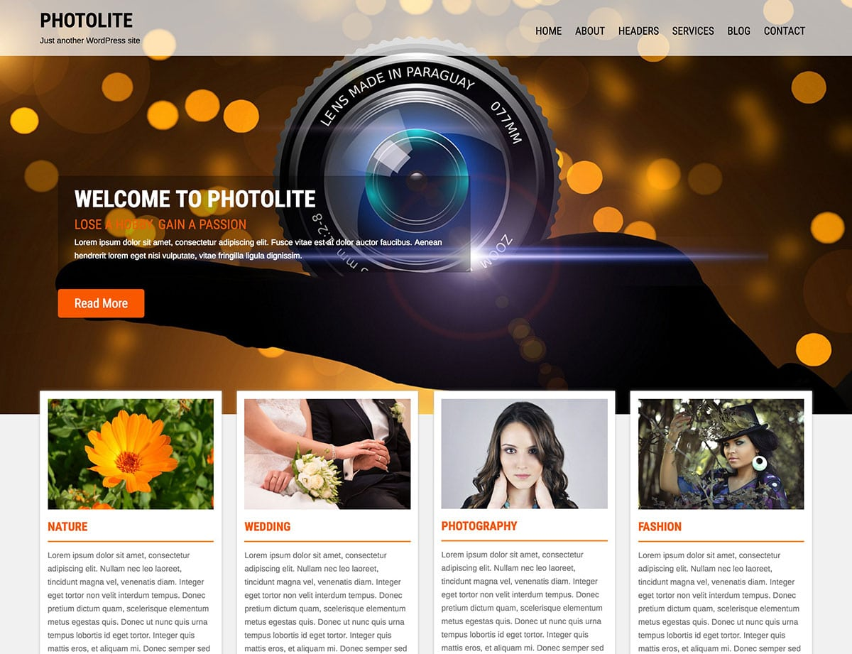 Its a fully responsive theme with simple design which you customize in your style.
