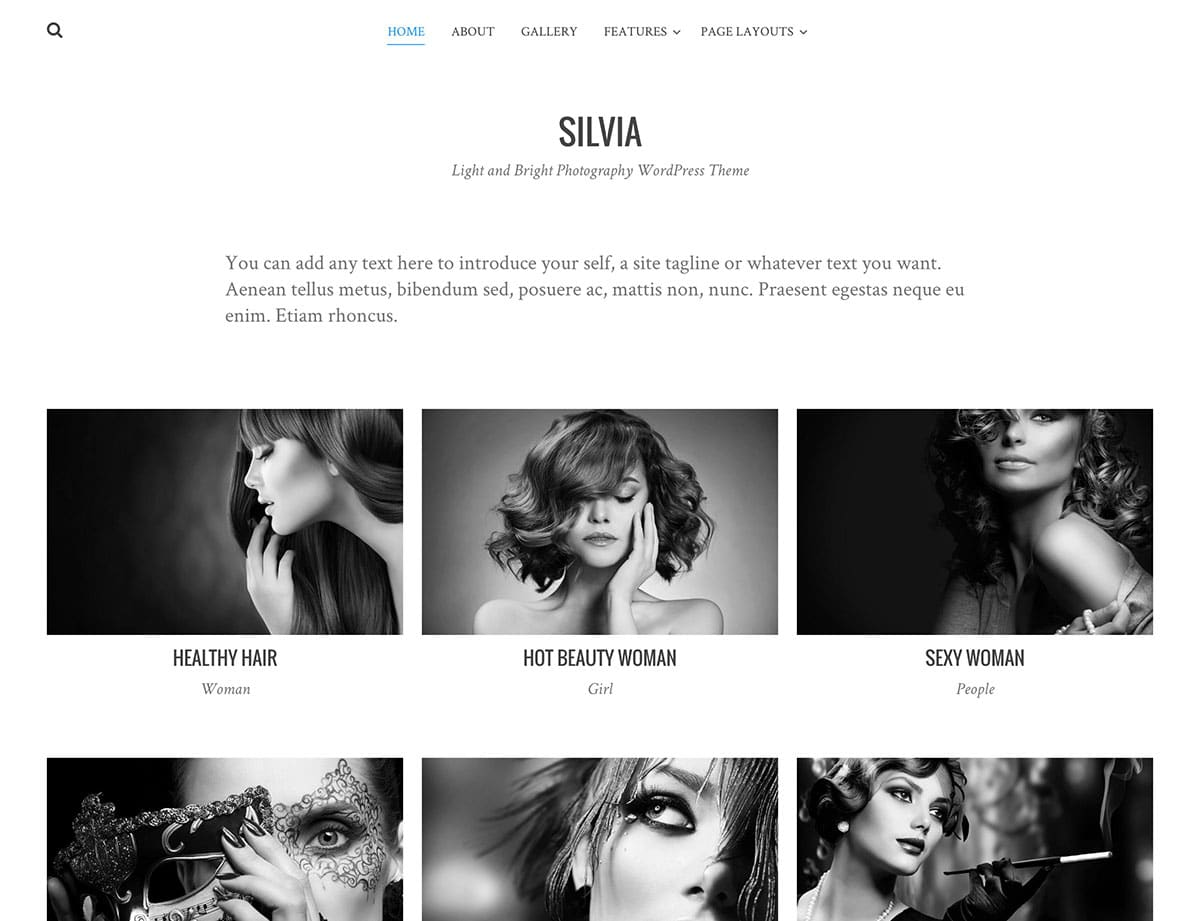 Fashionable and modern. If you are a fashion photographer , Silvia is a good choice.
