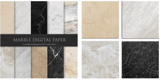 14 marble backgrounds in pastel and natural colors.