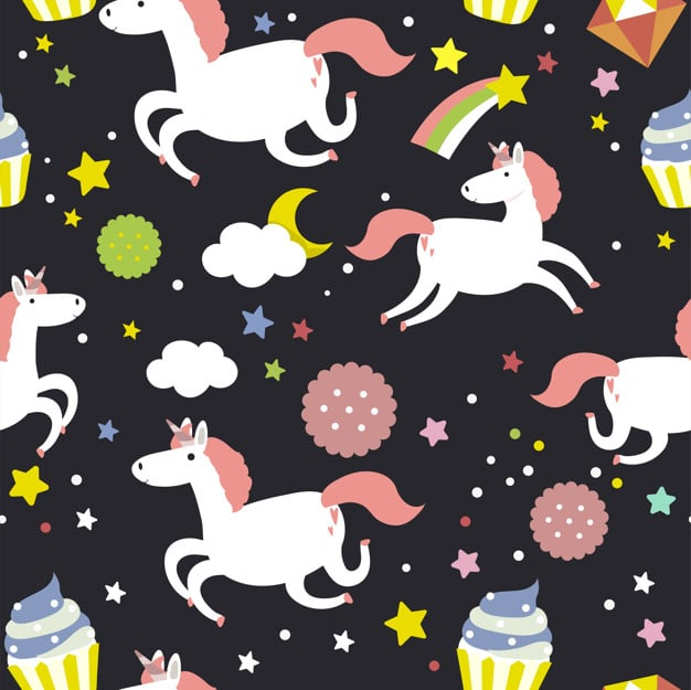 50+ Best Unicorn Background & Patterns in 2020: Free And Premium - unicorn seamless pattern background vector 53876 61451