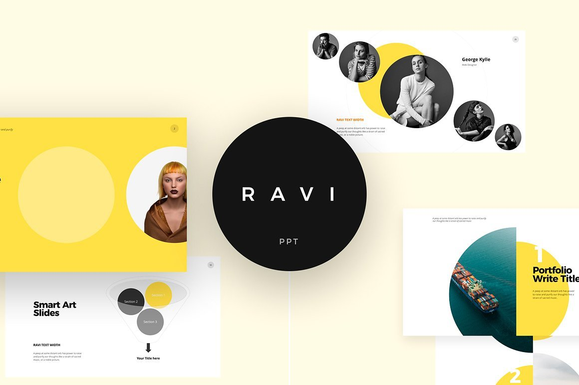 50 Creative PowerPoint Templates in 2020: Free And Premium. Best Creative Presentation Ideas - 1 ravi
