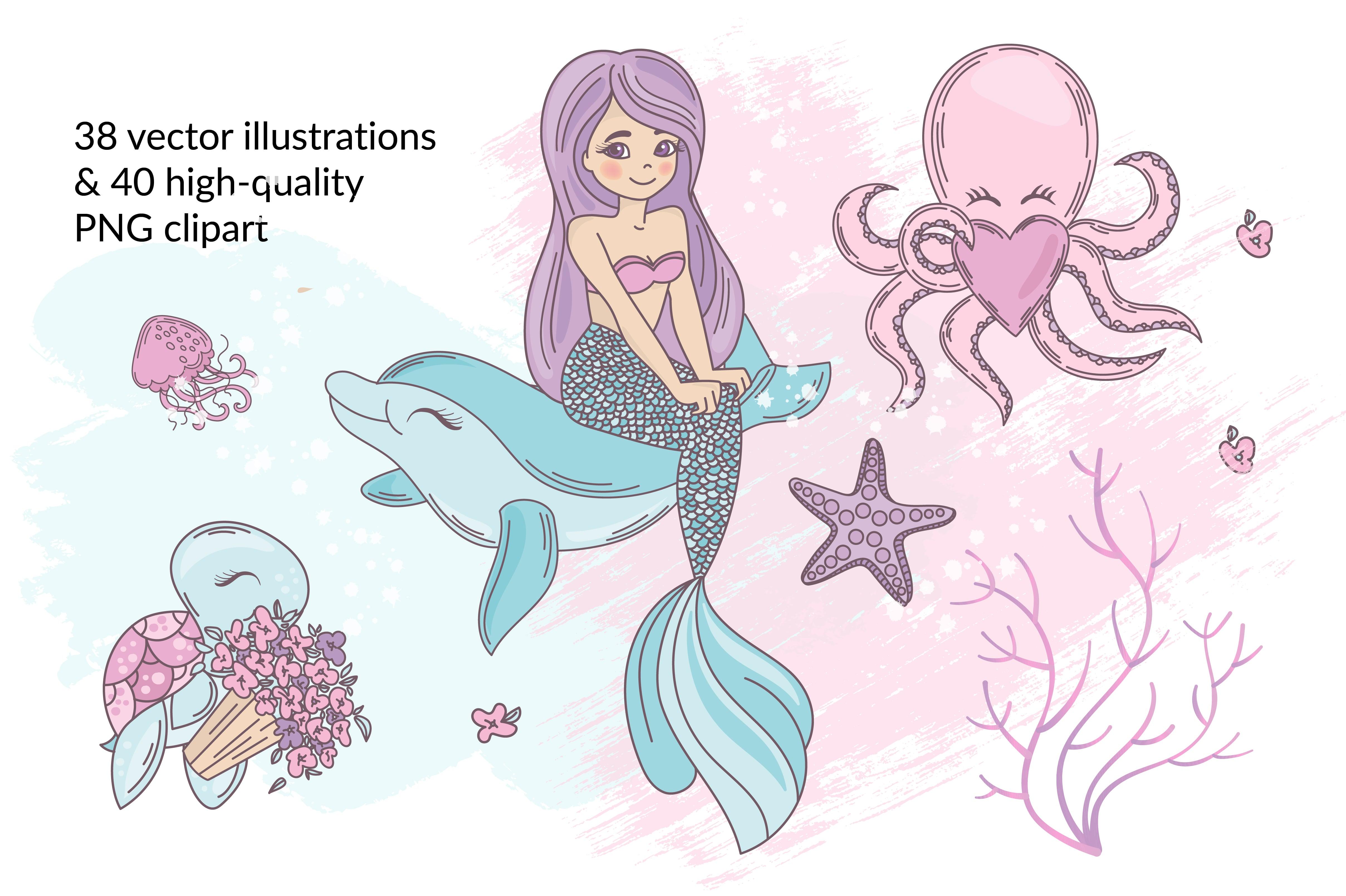 Little Mermaid Clipart