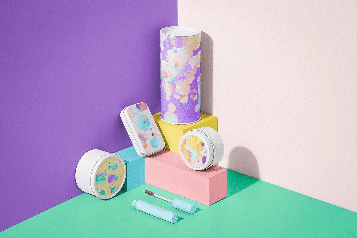 Holographic Pastel & Neon Spheres - P10