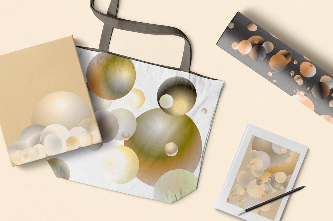 Holographic Pastel & Neon Spheres - Top View 05
