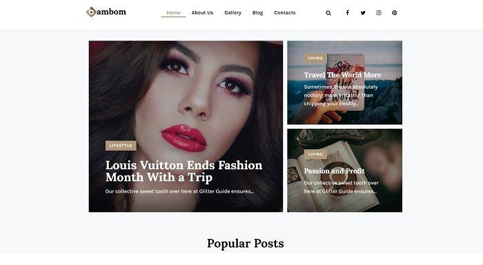 BamBom - Lifestyle Blog Multipurpose Minimal Elementor WordPress Theme