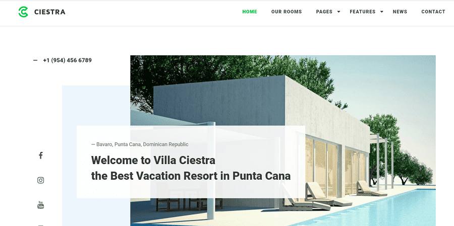55+ Best Hotel WordPress Themes 2021 That Make The Difference - ciestra