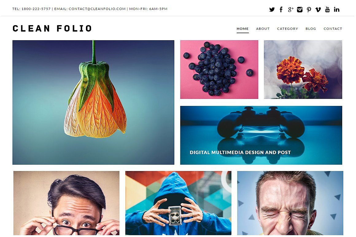 Top 35+ Creative Agency WordPress Themes - cleanfoliotheme1