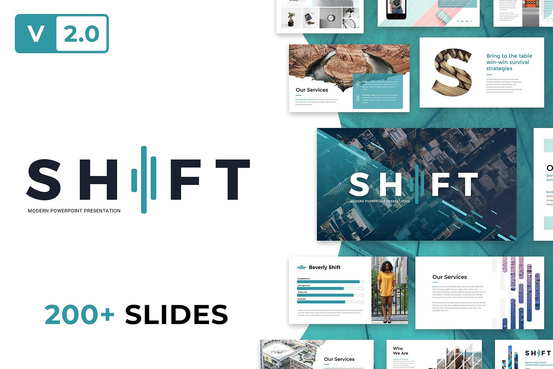 50 Creative PowerPoint Templates in 2020: Free And Premium. Best Creative Presentation Ideas - cm cover shift v2