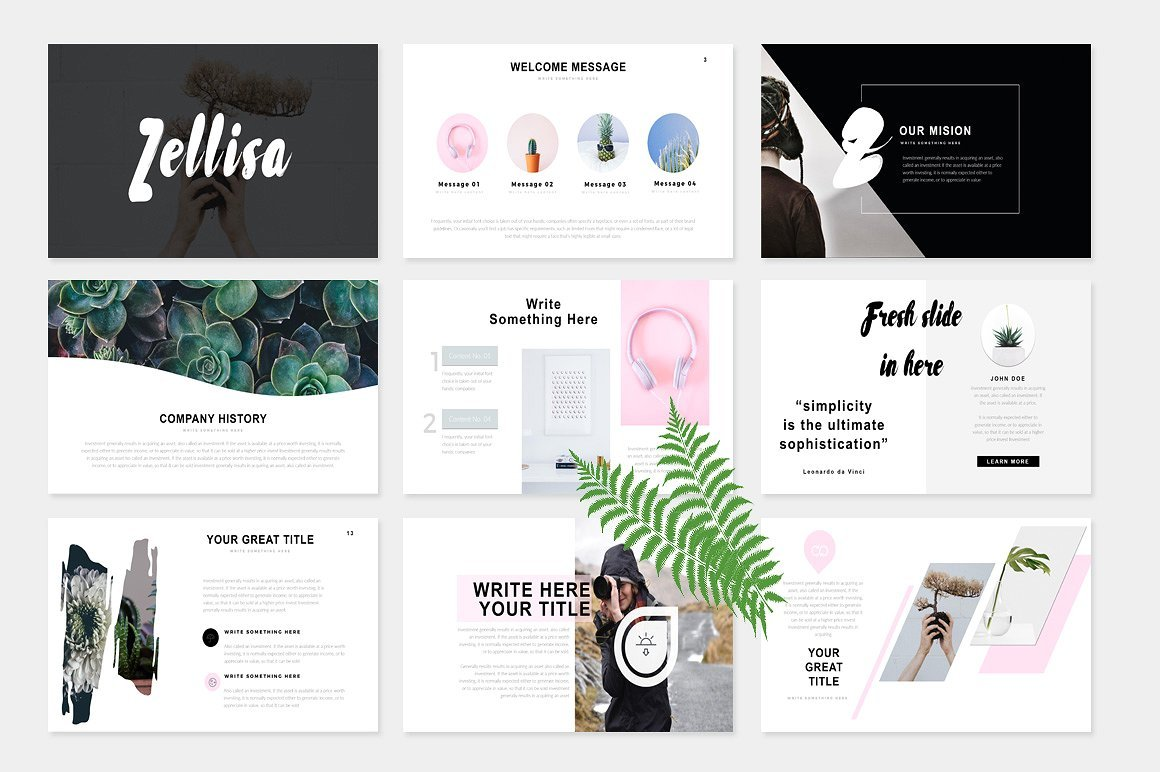 50 Creative PowerPoint Templates in 2020: Free And Premium. Best Creative Presentation Ideas - creative2