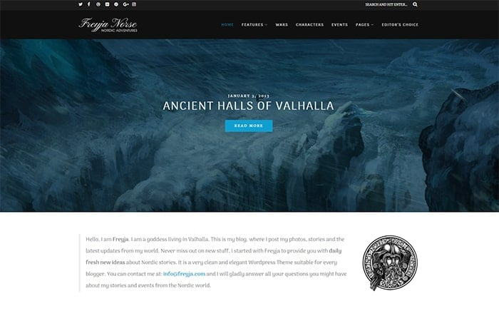 Freyja – Nordic Blog Theme