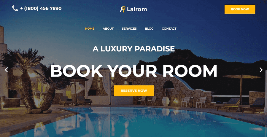 55+ Best Hotel WordPress Themes 2021 That Make The Difference - lairom