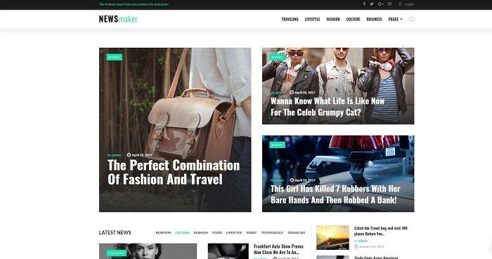 NEWSmaker - News & Magazine WordPress Theme WordPress Theme