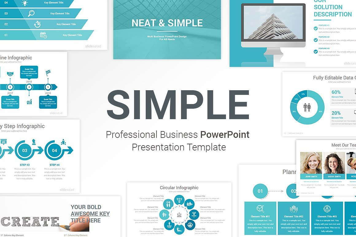 50 Creative PowerPoint Templates in 2020: Free And Premium. Best Creative Presentation Ideas - p1