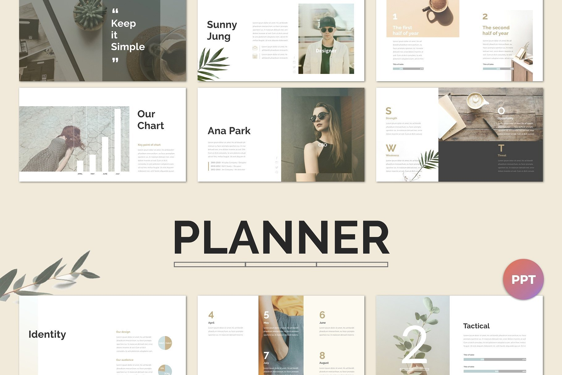 50 Creative PowerPoint Templates in 2020: Free And Premium. Best Creative Presentation Ideas - planner cm 1