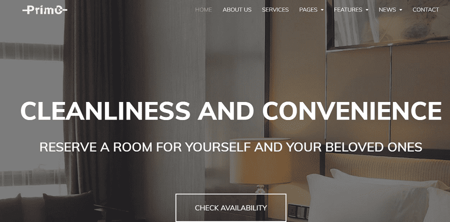 55+ Best Hotel WordPress Themes 2021 That Make The Difference - primo
