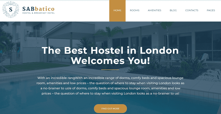 55+ Best Hotel WordPress Themes 2021 That Make The Difference - sabbatico