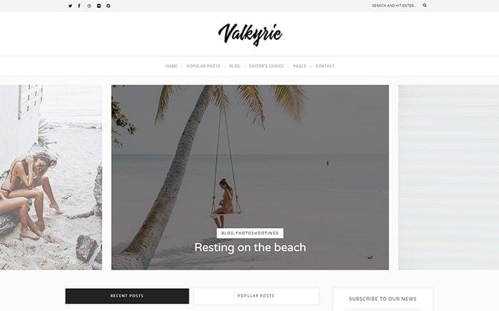 Valkyrie – A Lifestyle WordPress Blog