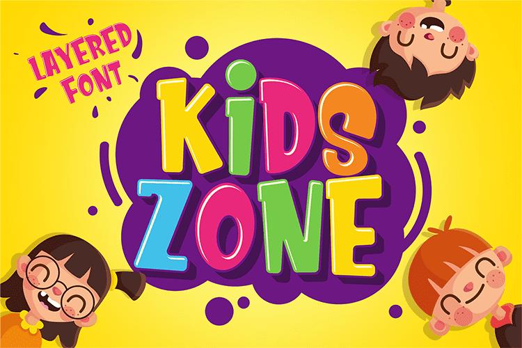 Child Handwriting Font Kids Zone  - $4 - 001 2