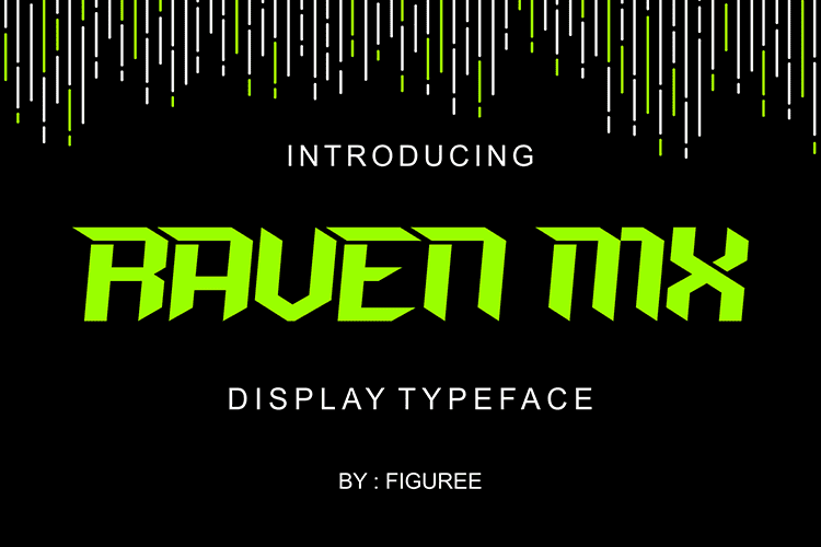 Raven MX Display Font - $4 - 001 3