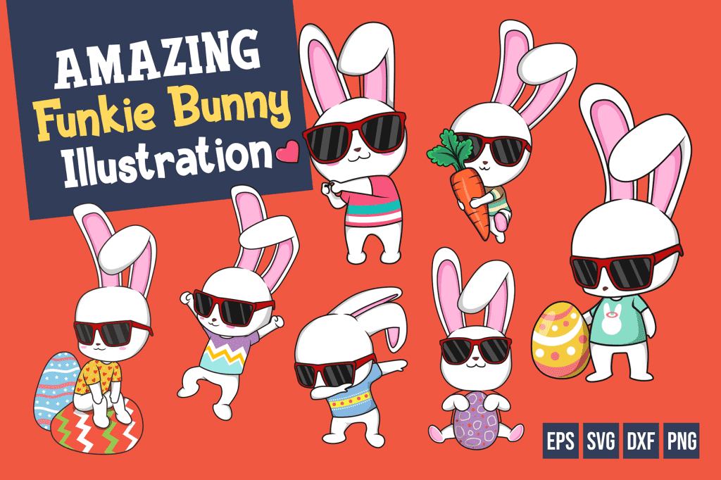 Easter Font - Funkie Bunny Font for Joyful Easter Decorations. Only $4