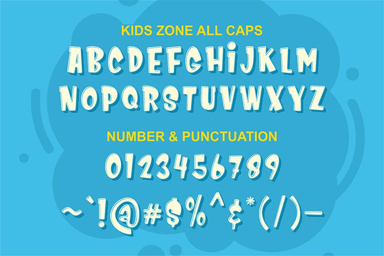 Child Handwriting Font Kids Zone  - $4 - 008 1