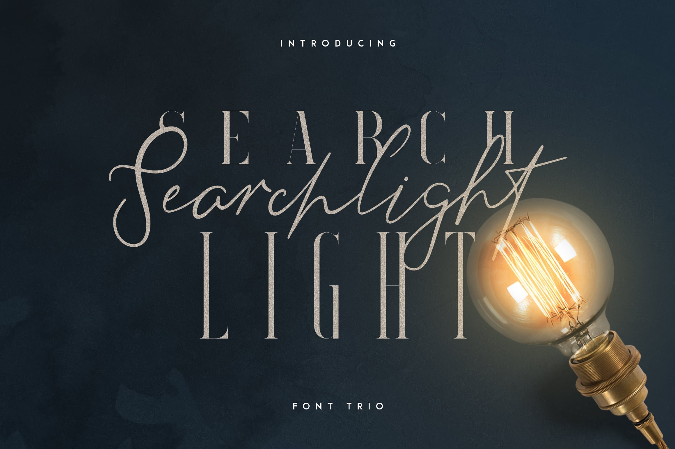 Stylish Fonts Download - Searchligth Font Trio $19 Only - 1 1