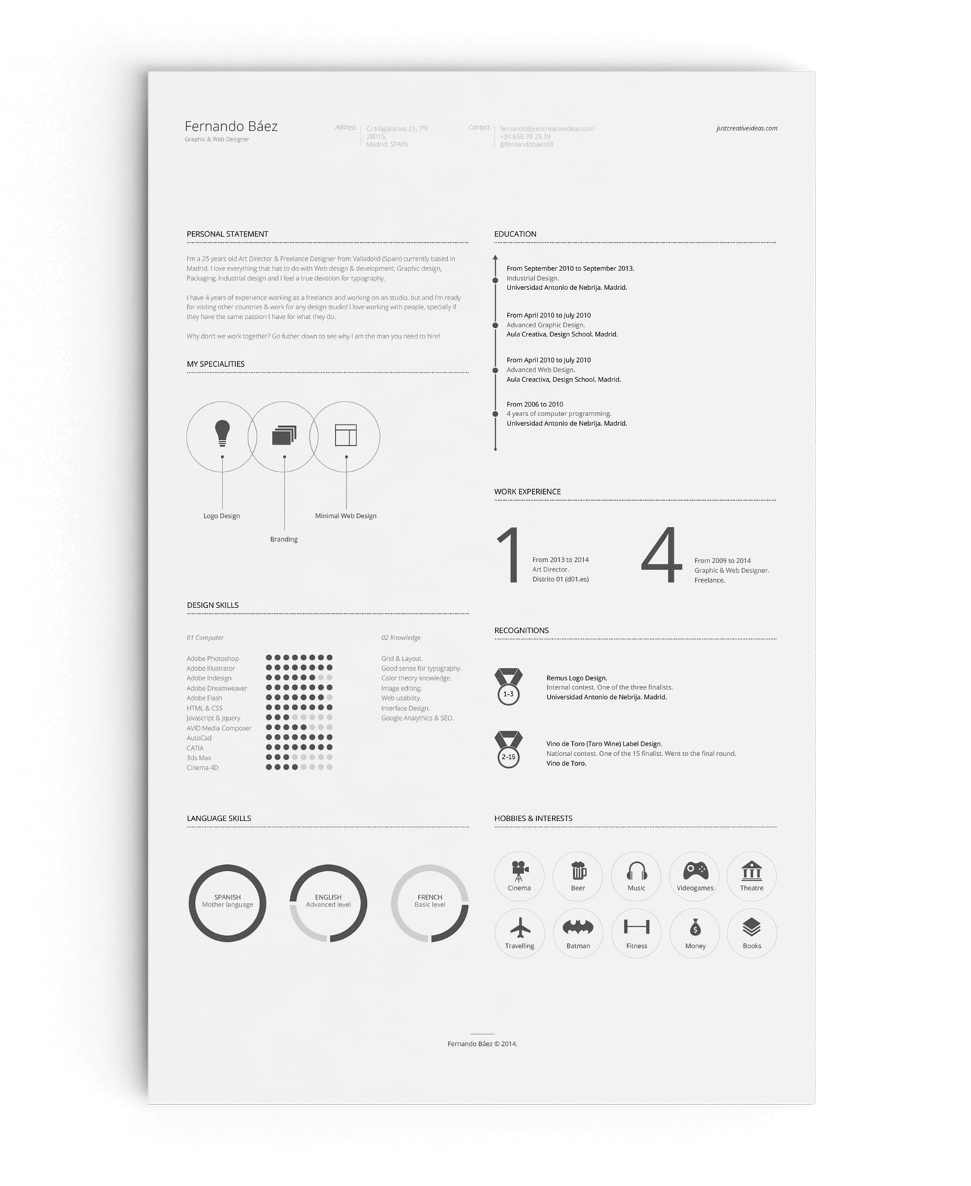 Minimalism with infographic