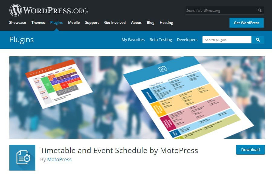 MotoPress Review 2020. Free and Premium WordPress Plugins & Themes - 7 Timetable and Event Schedule Plugin