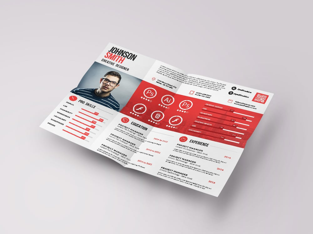 50+ Best Free Resume Templates in 2020 - A4 Landscape Resume Template PSD Free
