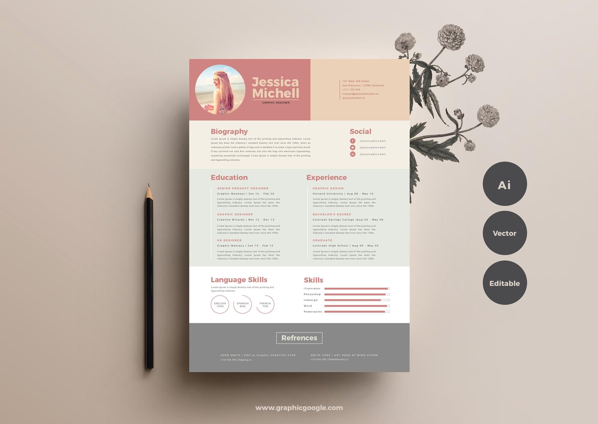 Free Simple & Elegant Resume Template