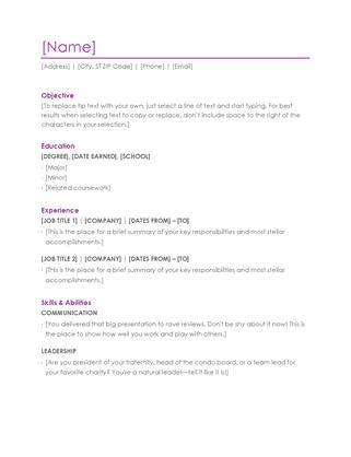 10 Free Microsoft Word Resume Templates