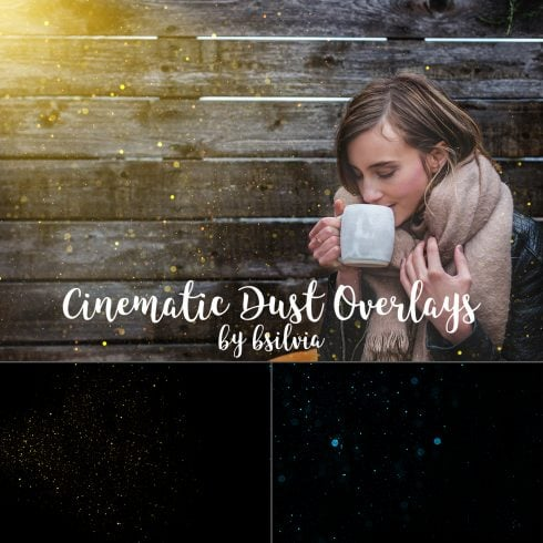 50 Cinematic Dust Photo Overlays, Bokeh Digital Backdrop, Cinematic Dust Photo Layer, Bokeh Light Effects, Photoshop Overlay