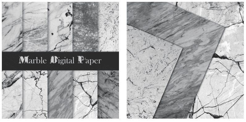 Grey marble backgrounds with veins of different thicknesses.