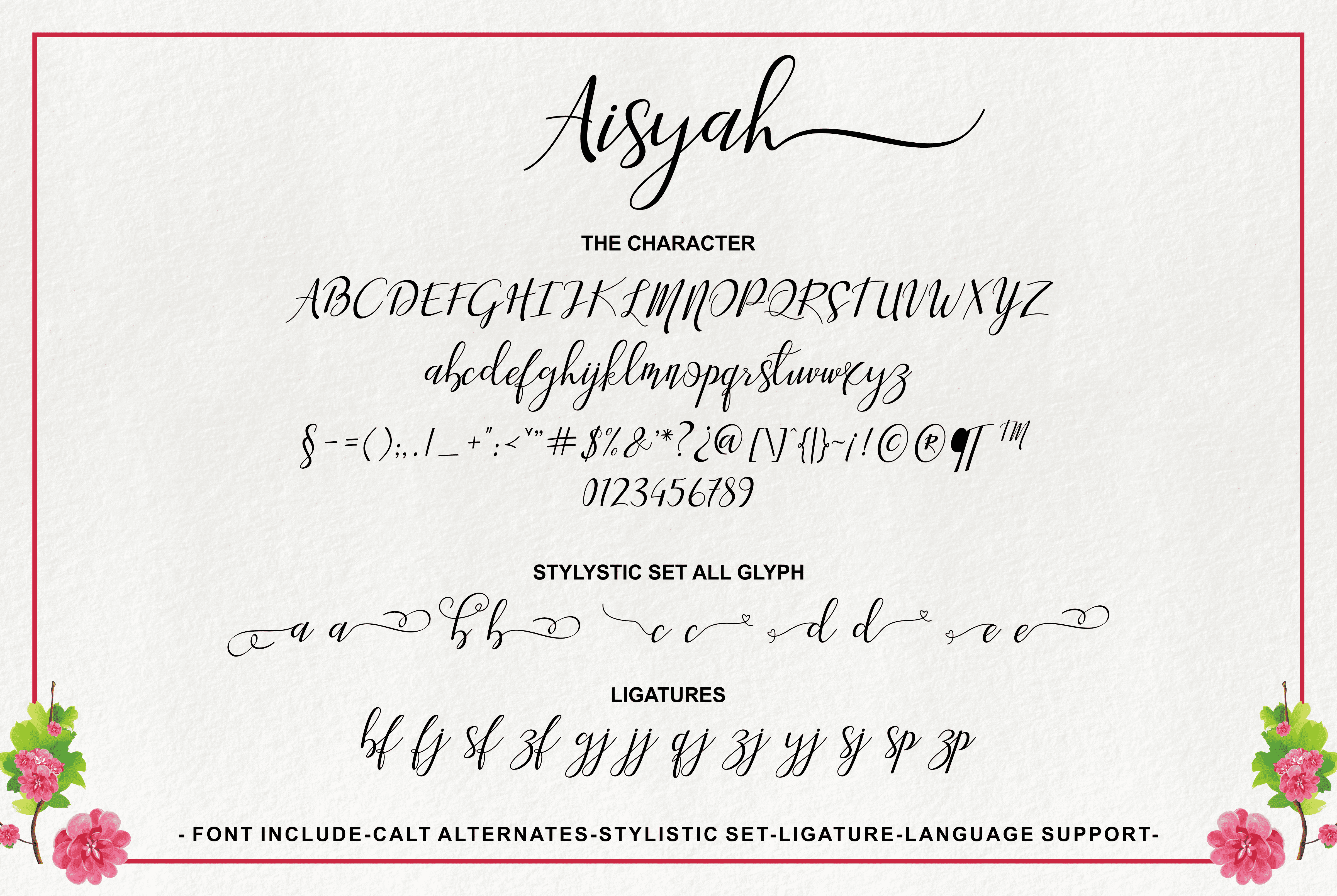 Aisyah - Modern Hand-based Typography