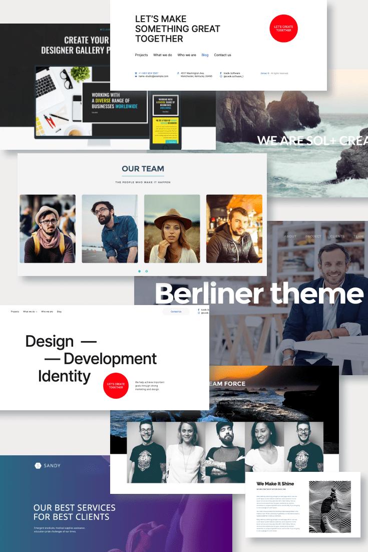 Best Creative WordPress Themes. Pinterest Image.
