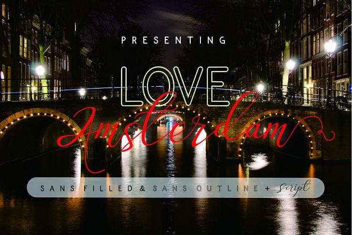 Love Amsterdam - Modern Handwritten Typeface - $10 - Love Amsterdam 1