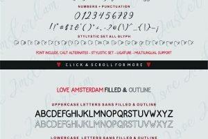 Love Amsterdam - Modern Handwritten Typeface - $10 - Love Amsterdam 10 300x200