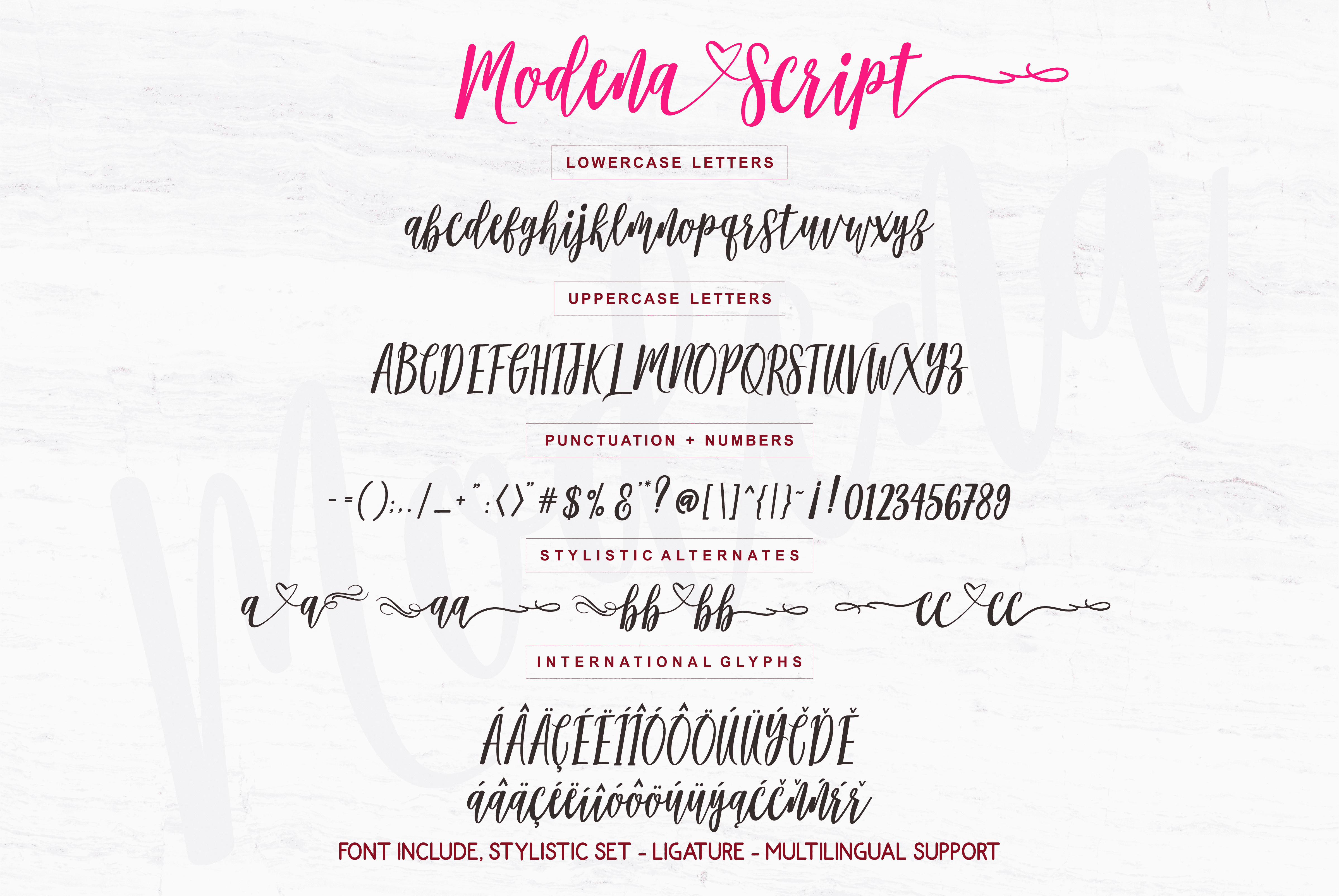 Modena Handwriting Font
