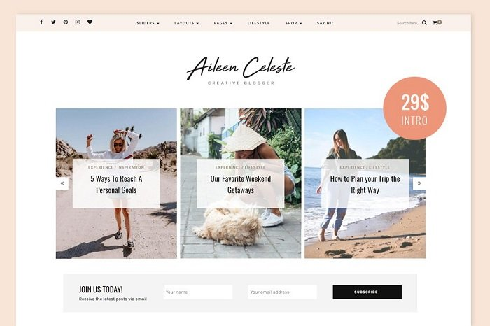 Aileen - A Personal Blog & Shop