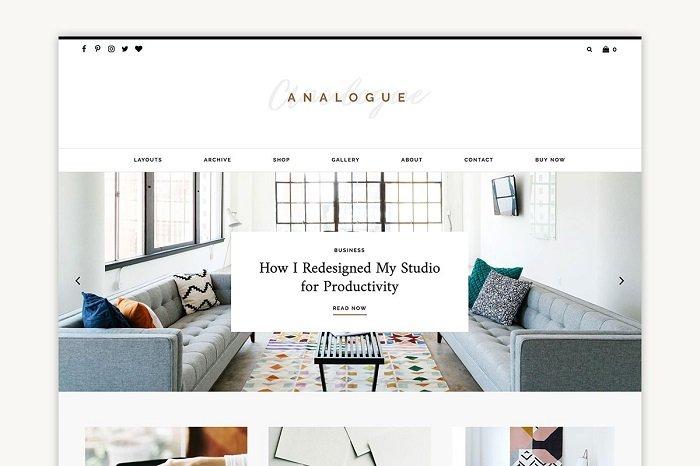 Analogue - Blog/Shop Theme