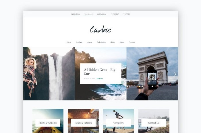 Carbis - Bold, Elegant WP Blog theme
